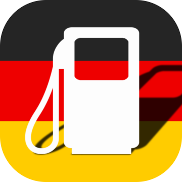 German Flag with gas station symbol